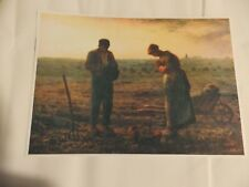 A4 Laminated print The Angelus by Francois Millet