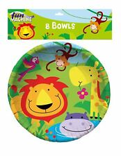 Pack of 8 Animal Jungle Party Bowls Birthday Jungle Party Celebration Accessory