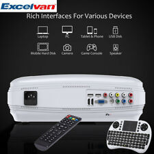 3D PROYECTOR 6000 lúmenes 1080P Home Cinema Projector WIFI Bluetooth+ANDROID6.0