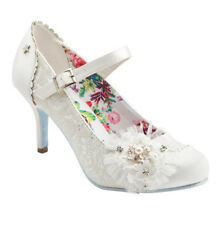 Joe Browns Couture Hitched Bridal Wedding Ivory Bar Shoe UK3-9 Lace Pearl