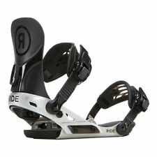 Ride Kids Snowboard Bindings - Phenom - Black, Silver, Youth Binding, Freestyle