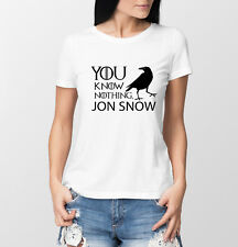 Game of Thrones inspired You Know Nothing Jon Snow ladies fit T-shirt.