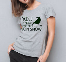 Game of Thrones inspired You Know Nothing Jon Snow ladies grey fit T-shirt.