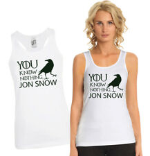 Women's Game of Thrones You Know Nothing Jon Snow fit racer back Tank Top.