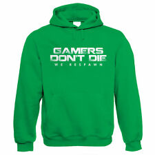 Gamers Don't Die We Respawn Gamer Hoodie - for Xbox PS4 PC Video Game Players