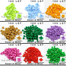 LEGO 10x Lot Part 33291 Lavender Red Brown Gold Green Pink Orange Flower 1x1