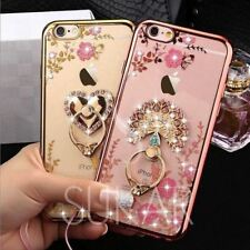 Diamond Crystal Case cover Ring Holder stand Soft TPU iPhone 5 6 6S 7 plus