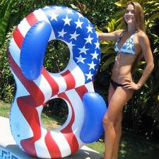 Arm Ring Inflatable Adult Double Person Swimming Tube Lifebuoy Float Flag Print