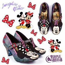 Irregular Choice Disney I Heart Minnie Mickey Mouse Iridescent Heel UK6/EU39
