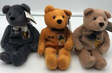 The 3 Stooges Plush Bear Toys Set Moe Larry Curly TV Movie Collectibles