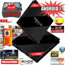 H96 PRO+Plus Smart TV Box 3/32GB Android7.1 4K Octa Core Dual WIFI+Teclado ES
