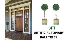 3ft Artificial Topiary Ball Tree Weighted Pots -  3ft Topiary Tree