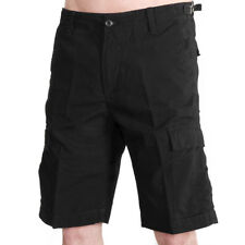 Carhartt WIP Aviation Short Black Rinsed Herren Cargo Shorts Schwarz