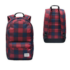 Timberland Crofton 22L Water Resistant Red Navy Checkered Backpack A1LR2 C56 M10