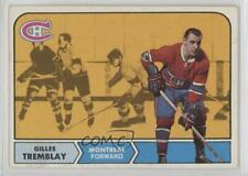 1968-69 Topps #66 Gilles Tremblay Montreal Canadiens Hockey Card