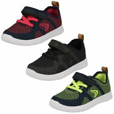 Infant Childrens Boys Girls Clarks Hook & Loop Lightweight Trainers Ath Flux