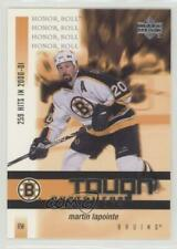 2001-02 Upper Deck Honor Roll Tough Customers #TC1 Martin Lapointe Boston Bruins
