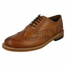 Mens Catesby Formal Leather Lace Up Brogue Shoes - Mcates 0310T