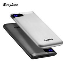 Portable Battery Power Bank Thin Polymer LCD Dual Output Type-C Ports 10000mah