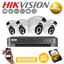 Hikvision 4CH CCTV HD 1080P 2.4MP Night Vision Outdoor DVR Security System Kit