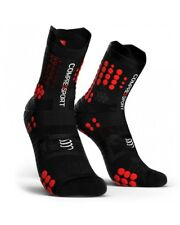 Compressport Racing Calcetines V3.0 Trail Medias de Red Compresión, Negro/Red