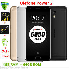 "4/64GB Ulefone Power 2 Octa Core 4G Smartphone 5.5 "" GPS Android7.0 13mp 6050mah"