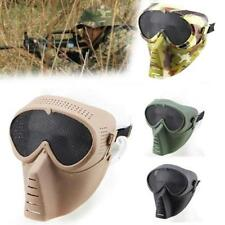 Tactical Full Face with Goggle Anti-fog Len Paintball Safe CS Mask for Airsoft