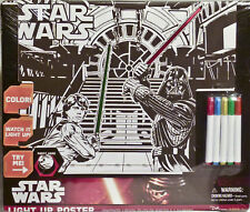 Star Wars: Episode VII The Force Awakens Light Up Poster 5 markers  BRAND NEW!