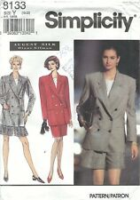 Simplicity 8133 Misses'/Miss Petite Shorts, Skirt & Jacket 18-22 Sewing Pattern