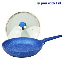 Non-stick Frypan Lid, Frying pan, Blue stone Induction, Fry pan cookware pan new