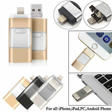 128GB/64GB/16GB/8GB 3 en 1 Flash USB Unidad de Disco Duro Pulgar para Iphone