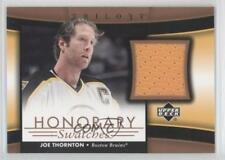 2005 Upper Deck Trilogy Honorary Swatches #HS-JT Joe Thornton Boston Bruins Card