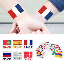 10Pcs Coupe Du Monde Football Tatouages Autocollant Drapeaux Visage Main Corps