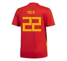adidas 2018 World Cup Spain Youth Home Jersey BR2713 w/ Isco 22 1805