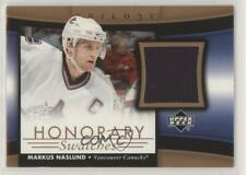 2005 Upper Deck Trilogy Honorary Swatches HS-MN Markus Naslund Vancouver Canucks