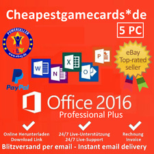 Microsoft Office 2010/2013/2016 Pro Plus 1/2/3/4/5 PC Produkt Key per Email
