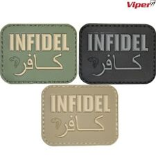 VIPER INFIDEL MORALE RUBBER PATCH HOOK & LOOP BADGE TACTICAL ARMY PAINTBALLING