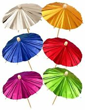 Childrens Birthday Party Foil Parasol Picks Pack of 12 Kids Party Accessories