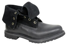 Timberland Earthkeepers Auténtico Ante Roll Top Botas Para Dama Negro 8703a U67