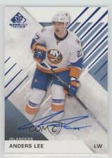 2016-17 Upper Deck SP Game Used Blue Autographed #88 Anders Lee Auto Hockey Card