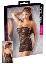 Sexy Mini abito pizzo nero Cottelli Sexy shop toy intimo erotic lingerie donna