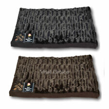LUXURY DOG CAT PET FUR  BED MATTRESS WASHABLE PILLOW CUSHION SOFT WARM BED