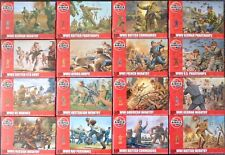 Airfix 1:72 Figuren, WWI, WWII, Infantry, Paratroopers, German, British, US, Fr