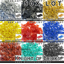 LEGO 50x Lot Part 2412b Silver Black Gray Gold Red Tile Modified 1x2 Grill