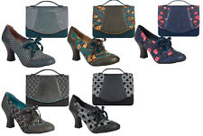 062b2c7f4a18 Ruby Shoo Brogue Daisy Lace Up Shoe Boots   Matching Belfast Bag Teal Brown  ...
