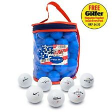 50 Recycled Lake Golf Balls With Carry Bag   Titleist Callaway Nike Pro V1