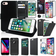 Housse Etui Coque Cuir Silicone Gel PU Case Film Verre Apple iPhone 5/ 5S/ SE