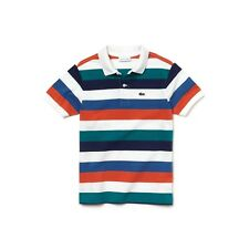 Brand New Kids Boys Lacoste Colored Stripes Polo Shirt PJ3583 Age 2 to 12 Years