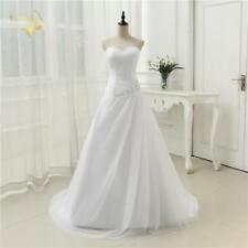 Wedding Dresses Sweetheart A Line Rhinestone Beading Bridal Gown Plus Size Lace