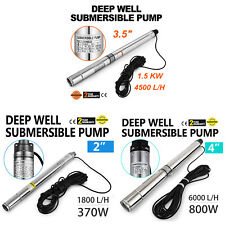 VEVOR 1.8/4.5/7 m³/h Borehole Deep Well Submersible Water Pump  + 46/59FT CABLE